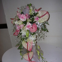 Flowers & Decor, Flowers, Flower, Girl, Wedding, Tropical, Bridal, Bouquets, Marriage, Exciting blooms balloons, Centrepiece, Anthuriums