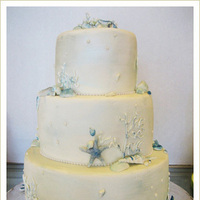 Cakes, blue, cake, Beach, Beach Wedding Cakes, Sugar butter flour