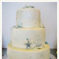 Cakes, blue, cake, Beach, Beach Wedding Cakes, Sugar butter flour