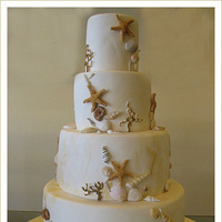 Cakes, cake, Beach, Beach Wedding Cakes, Sugar butter flour, Whitie