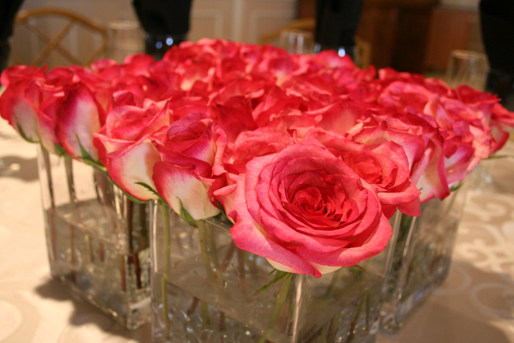 Flowers & Decor, pink, Centerpieces, Flowers, Roses, Centerpiece, Table, Unique, Floral, Designer, Design, Glass, Florist, Maria, Masterson
