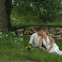 Bride, Groom, And, Grass, Vermont, Christin khan photography, Wall, Stone