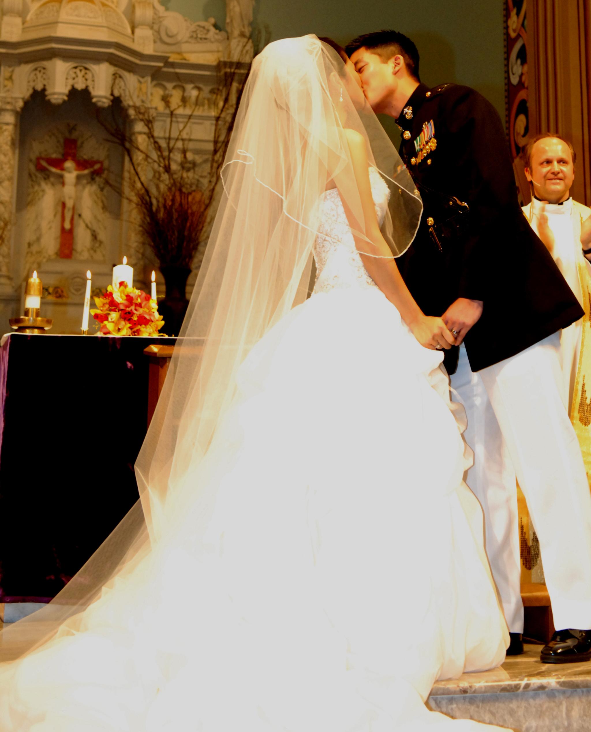 Ceremony, Flowers & Decor, Wedding Dresses, Veils, Fashion, ivory, dress, Veil, Train, Strapless, Strapless Wedding Dresses