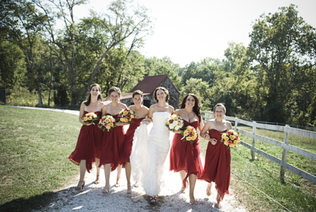 Bridesmaids, Bridesmaids Dresses, Fashion, red, Country