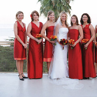 Flowers & Decor, Bridesmaids, Bridesmaids Dresses, Fashion, red, Bridesmaid Bouquets, Flowers, Flower Wedding Dresses