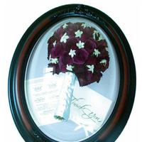 Frame, Suspended in time tm design floral preservation, Oval
