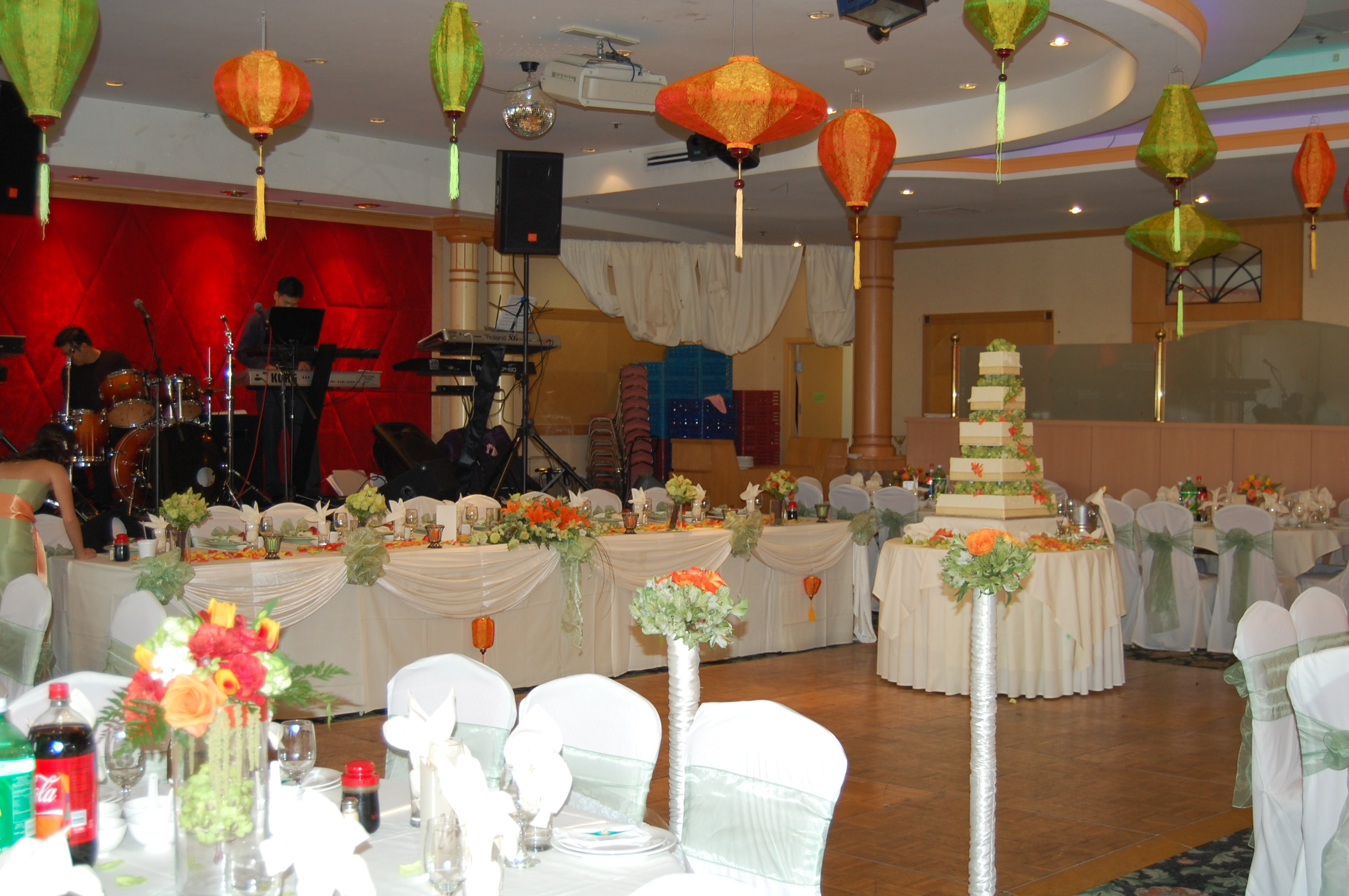 Reception, Flowers & Decor, Cakes, cake, Flower, Chinese, Events by karen lee, Lanturn
