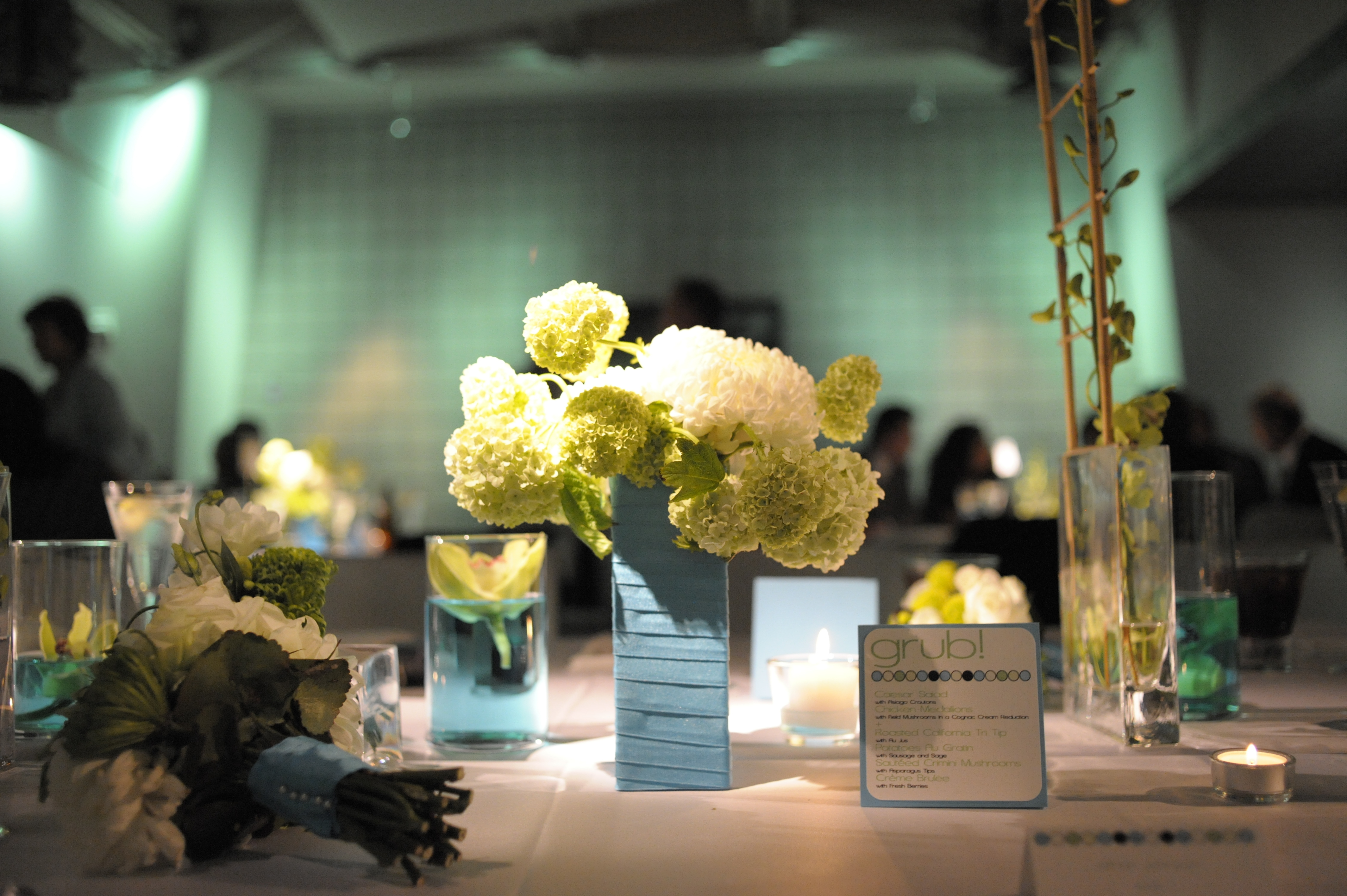blue, green, Centerpieces, Modern, Lighting, Candles, Turquoise
