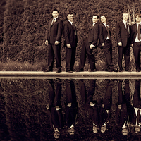 Men, Groomsmen, Groom, Party, Bridal, Sepia, Boys, Lorraine daley wedding photography