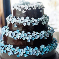 Cakes, blue, brown, cake
