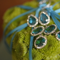 Flowers & Decor, Jewelry, blue, green, Earrings, Flowers, Ring, Bearer, Aqua, Turquoise, Something