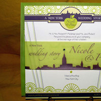 Stationery, purple, green, invitation, Modern Wedding Invitations, Invitations, Lime, Nyc, Lela new york