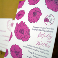 Stationery, purple, Invitations, Letterpress, Lela new york