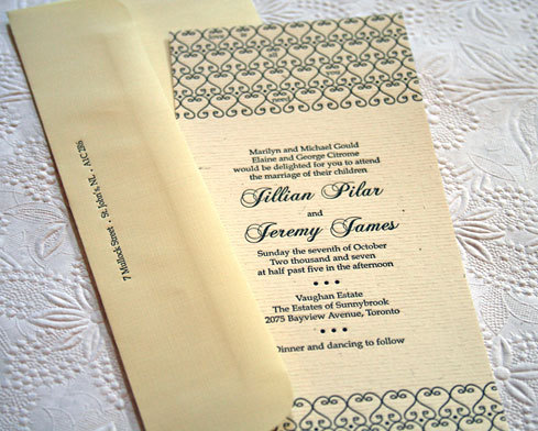 Stationery, ivory, brown, Classic Wedding Invitations, Invitations, Wedding, Letterpress, Classical, Hearts
