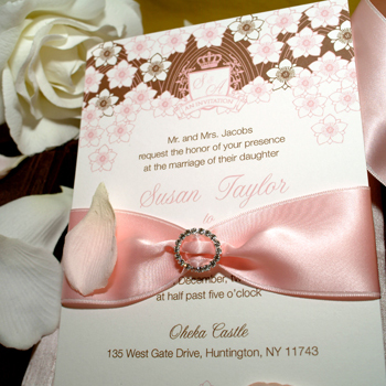Stationery, pink, Classic Wedding Invitations, Glam Wedding Invitations, Invitations, Rhinestones, Lela new york