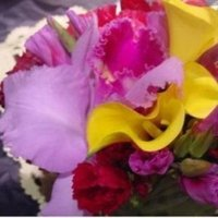Reception, Flowers & Decor, yellow, pink, Boutonnieres, Centerpieces, Flowers, Centerpiece, Boutonniere, Callas, Limelight floral design