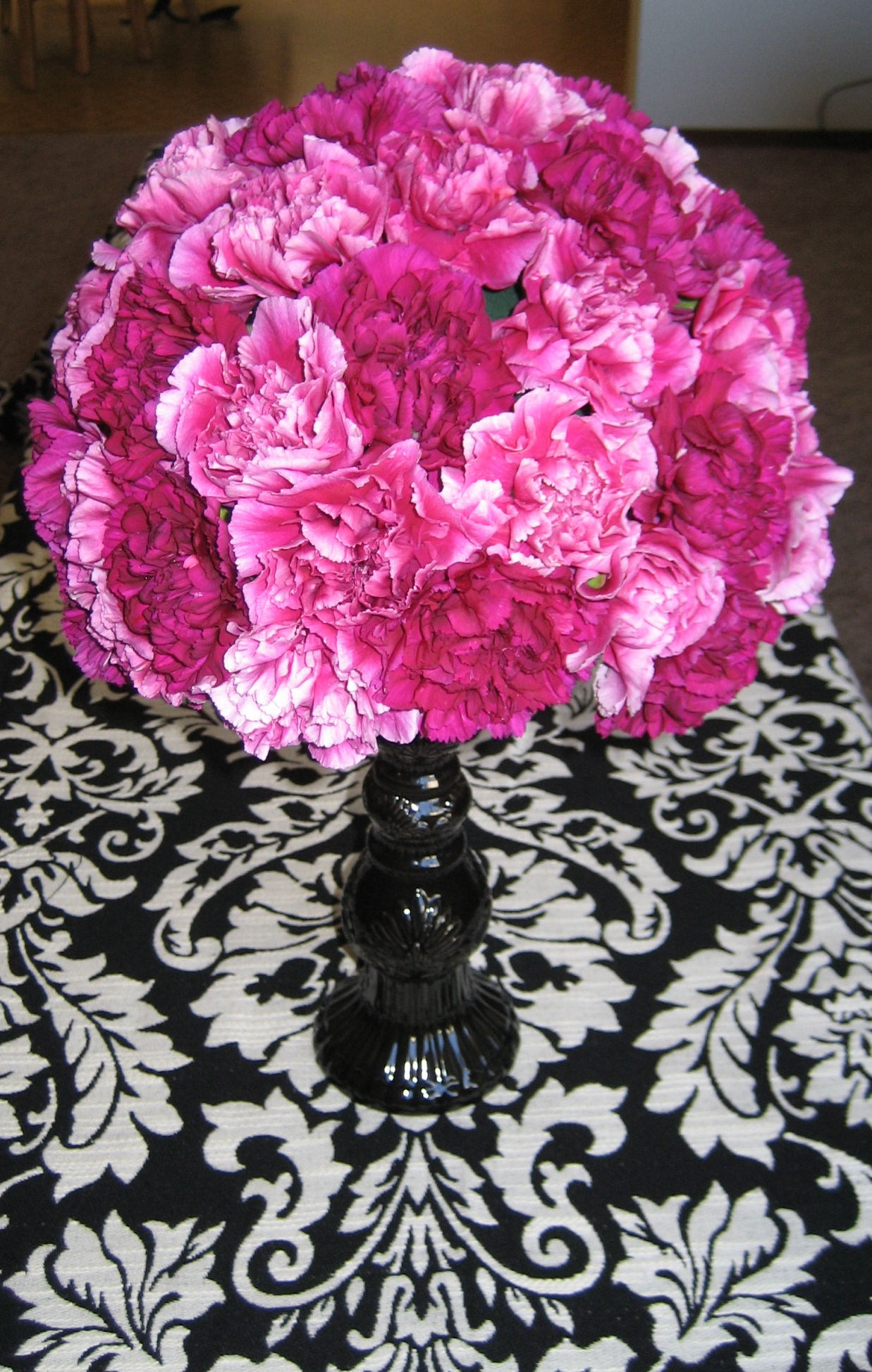 Flowers & Decor, pink, Flowers, Damask, Fuchsia