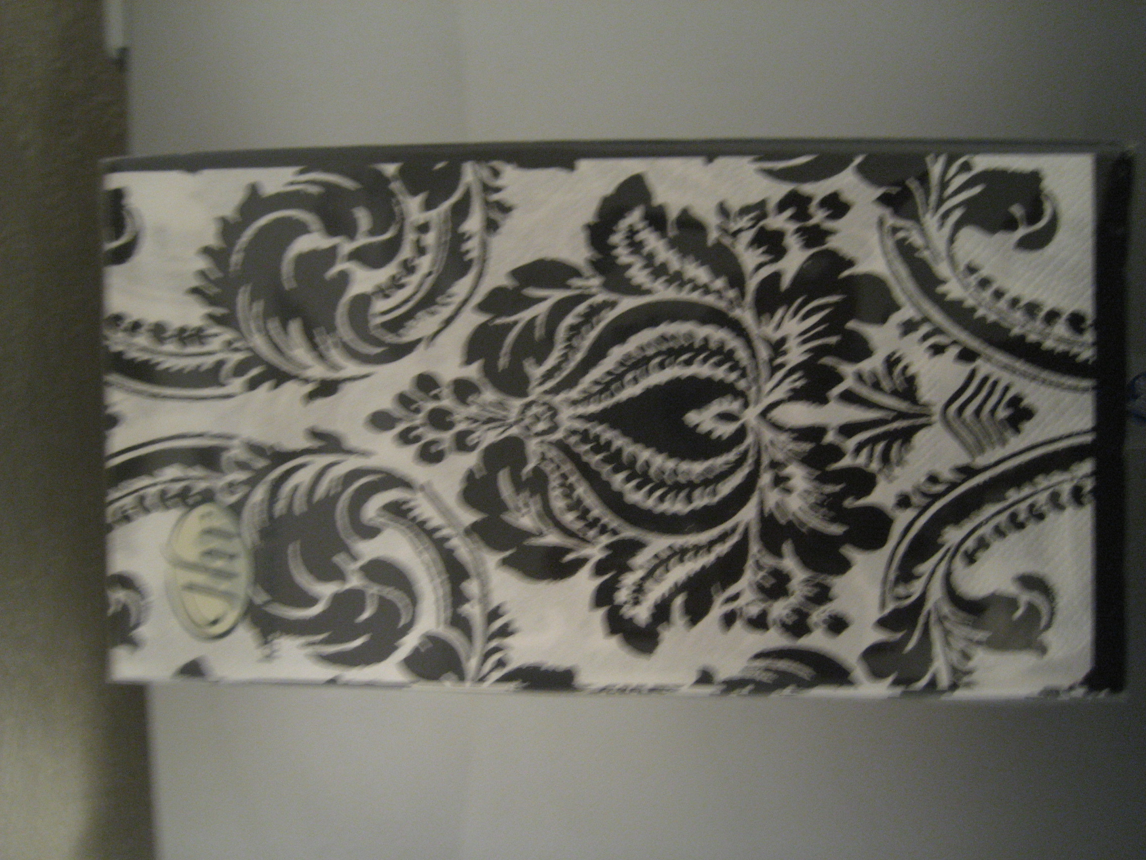 white, black, And, Napkins, Damask