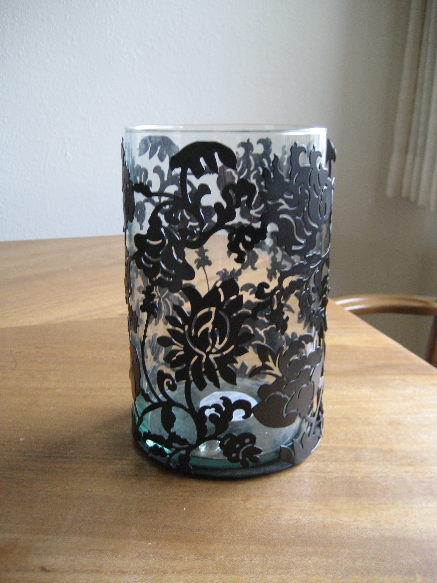 black, Damask, Candleholder