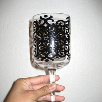 Registry, white, black, Drinkware, And, Glasses, Damask