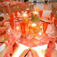 Flowers & Decor, Centerpieces, Flowers, Centerpiece, Table, Sunset, Settings