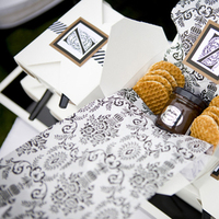 Favors & Gifts, white, brown, black, Favors, Modern, Cookies, Monogram, The, In, Design, Event, Now
