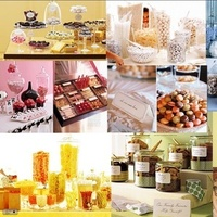 Inspiration, yellow, pink, blue, green, Candy, Board, Buffet
