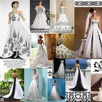 Wedding Dresses, Fashion, black, dress, Damask