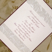 Stationery, burgundy, invitation, Invitations, Custom wedding invitations by chrissy arnold, Metallic, Shimmer, Layered, Embossed, Maroon