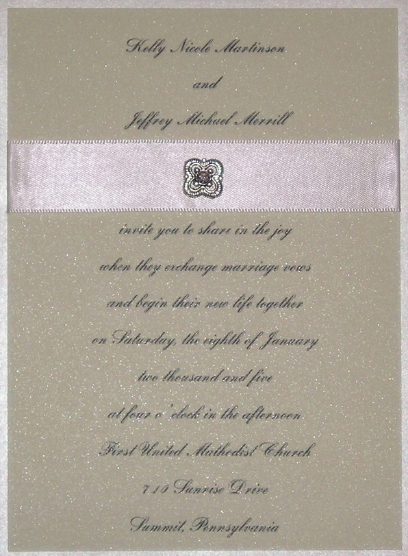 Stationery, green, invitation, Invitations, Crystal, Ribbon, Glamorous, Swarovski, Jewel, Charm, Custom wedding invitations by chrissy arnold, Metallic, Shimmer