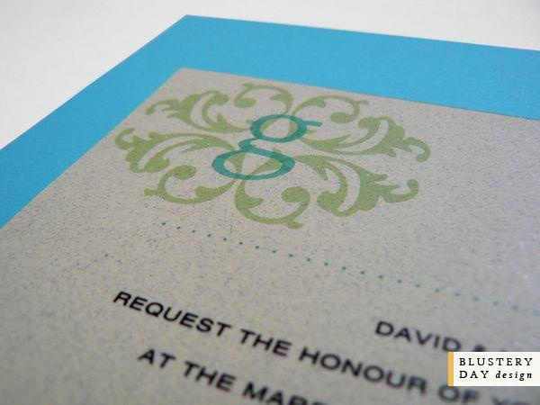 Stationery, blue, invitation, Modern, Modern Wedding Invitations, Invitations, Teal, Invite, Blustery day design