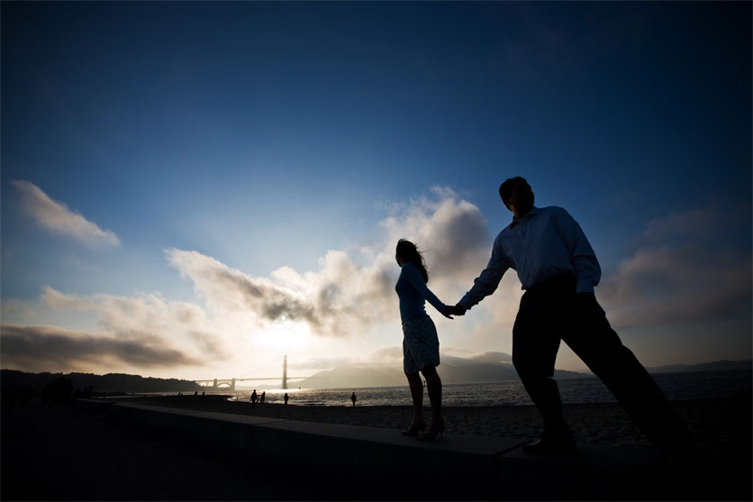 Beach, Sunset, Engagement, All, Bridge, Shoot, Jerry yoon photography, Got, Its, It