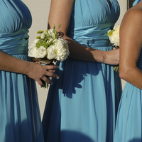 Fashion, white, blue, green, And, Dresses, Bouquets, Turquoise