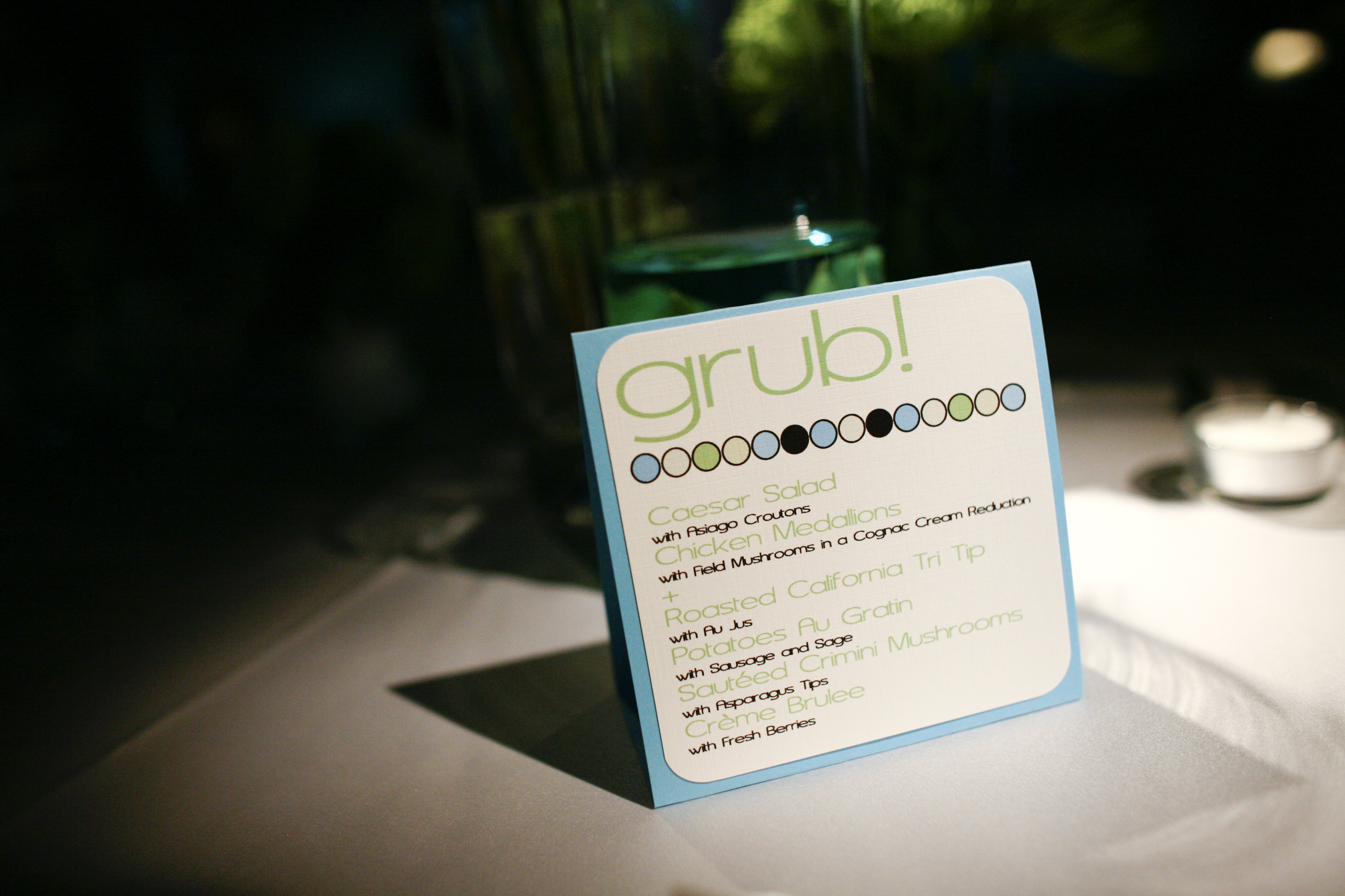 white, blue, green, Menu, Tent, Card