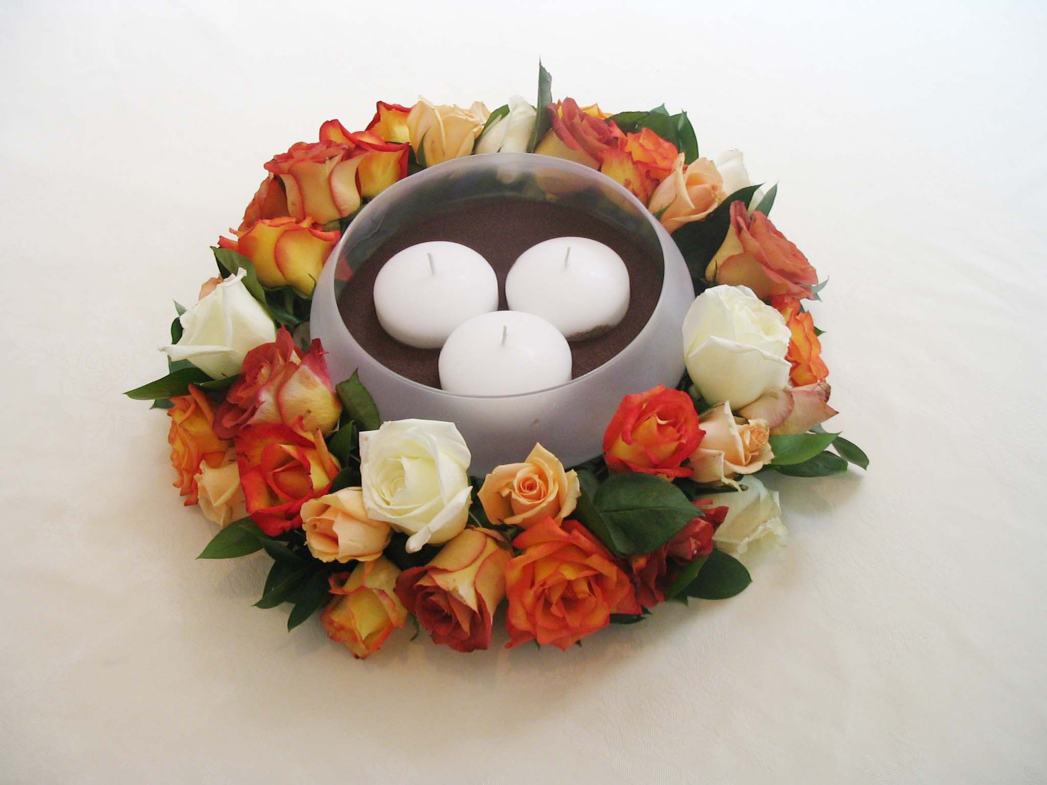 Fall, Centerpiece, Ring, Candle, Rose, Celebrations event services
