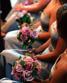purple, And, Rose, Bouquets, Celebrations event services, Ivy