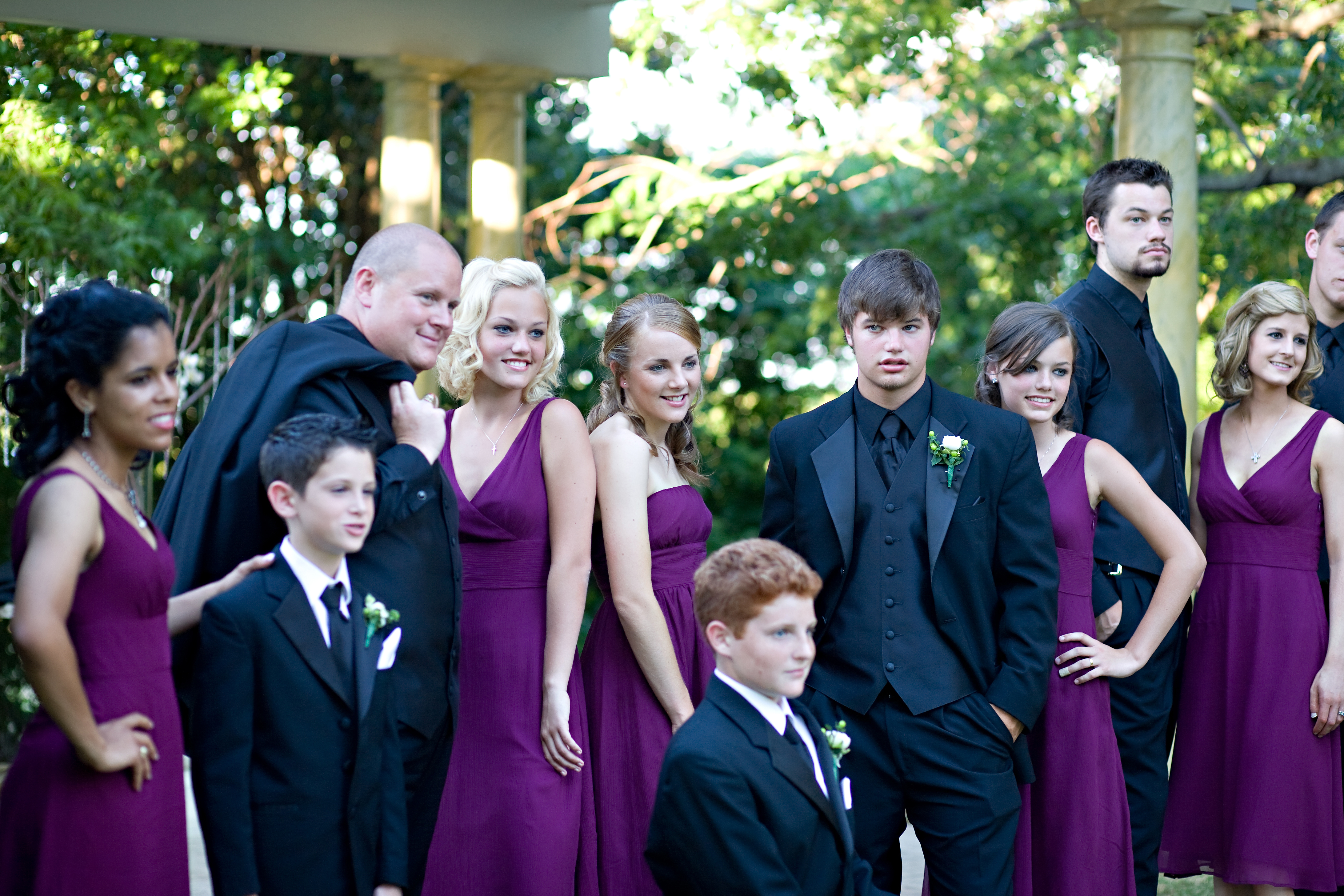 Bridesmaids, Bridesmaids Dresses, Wedding Dresses, Fashion, purple, black, dress, Dresses