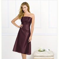 burgundy, Bridesmaid, Tea, Length