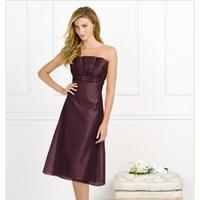 burgundy, Bridesmaid, Tea, Length