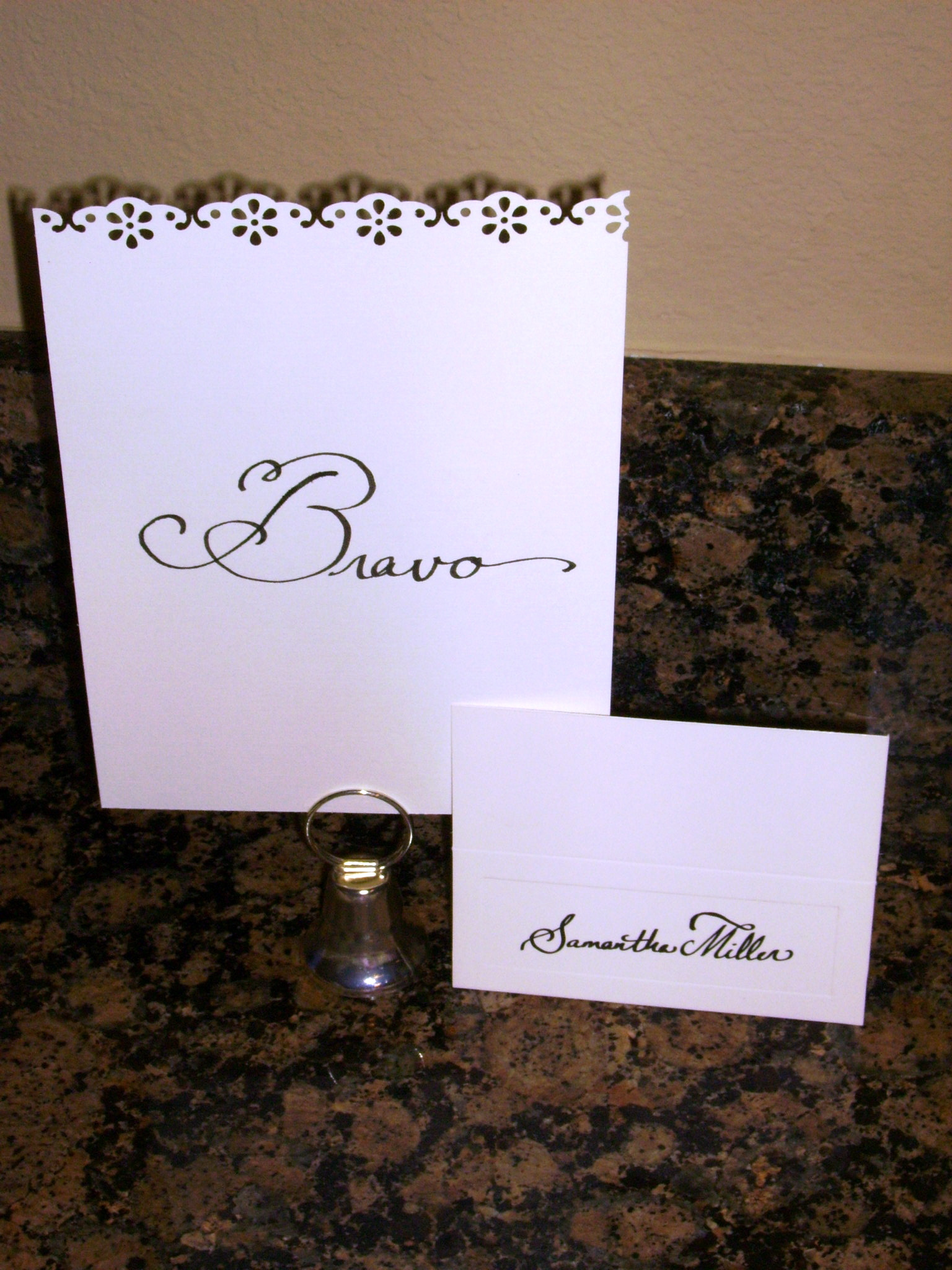 Table, Numbers, Card, Place