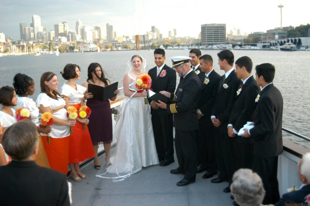 Ceremony, Flowers & Decor, Destinations, Cruise, View, Virginia v steamship, Cityscape