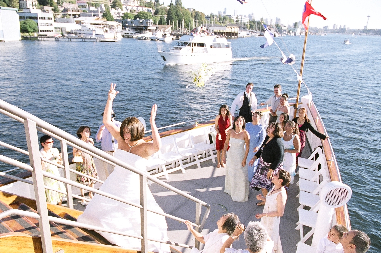 Flowers & Decor, Destinations, Cruise, Bride Bouquets, Bride, Flowers, Bouquet toss, Boat, Ship, Virginia v steamship