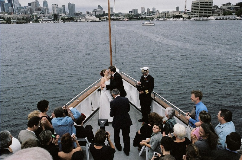 Ceremony, Flowers & Decor, Destinations, Cruise, View, Boat, Ship, Virginia v steamship, Cityscape