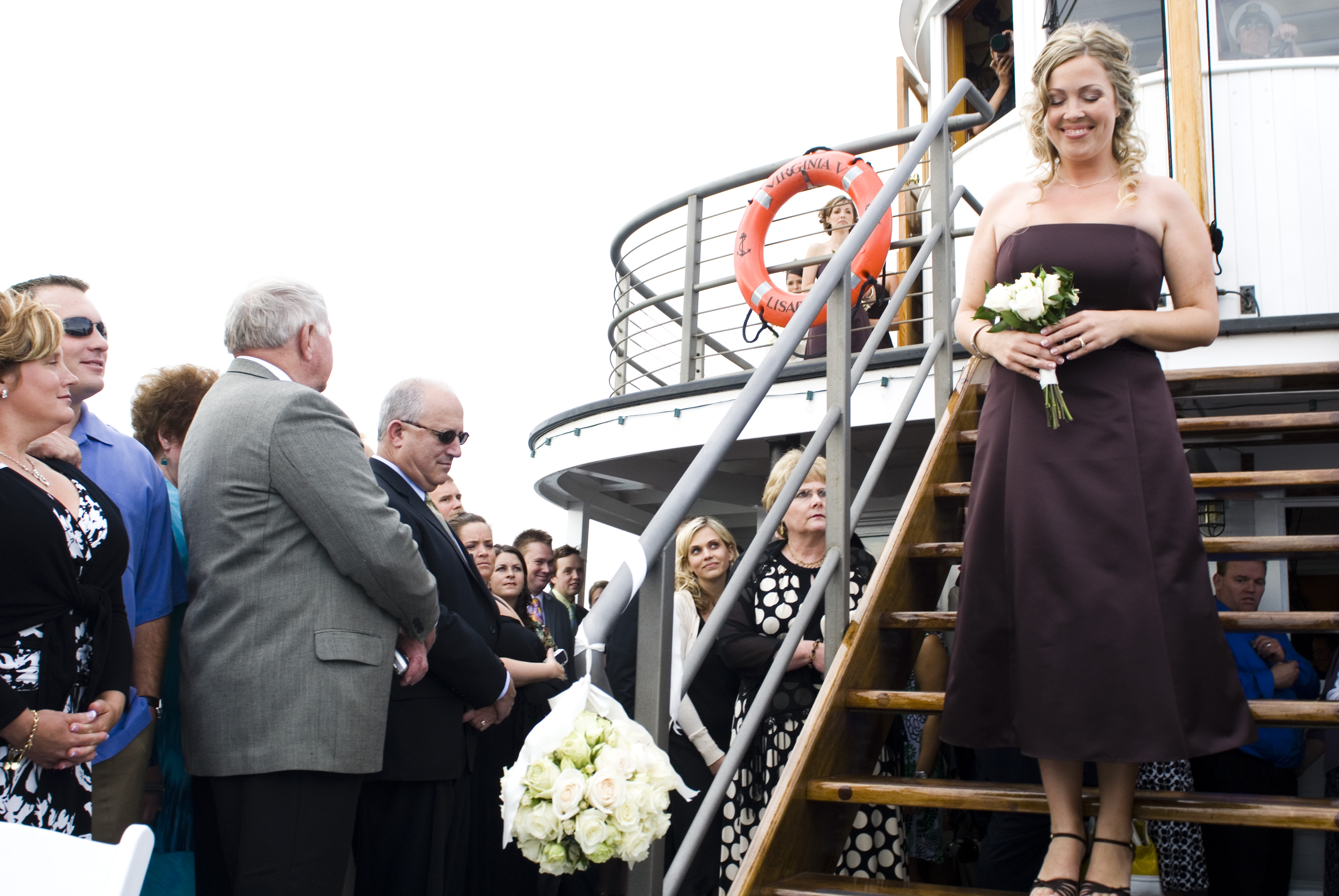 Ceremony, Flowers & Decor, Destinations, Cruise, Bridesmaid, Procession, Boat, Ship, Virginia v steamship