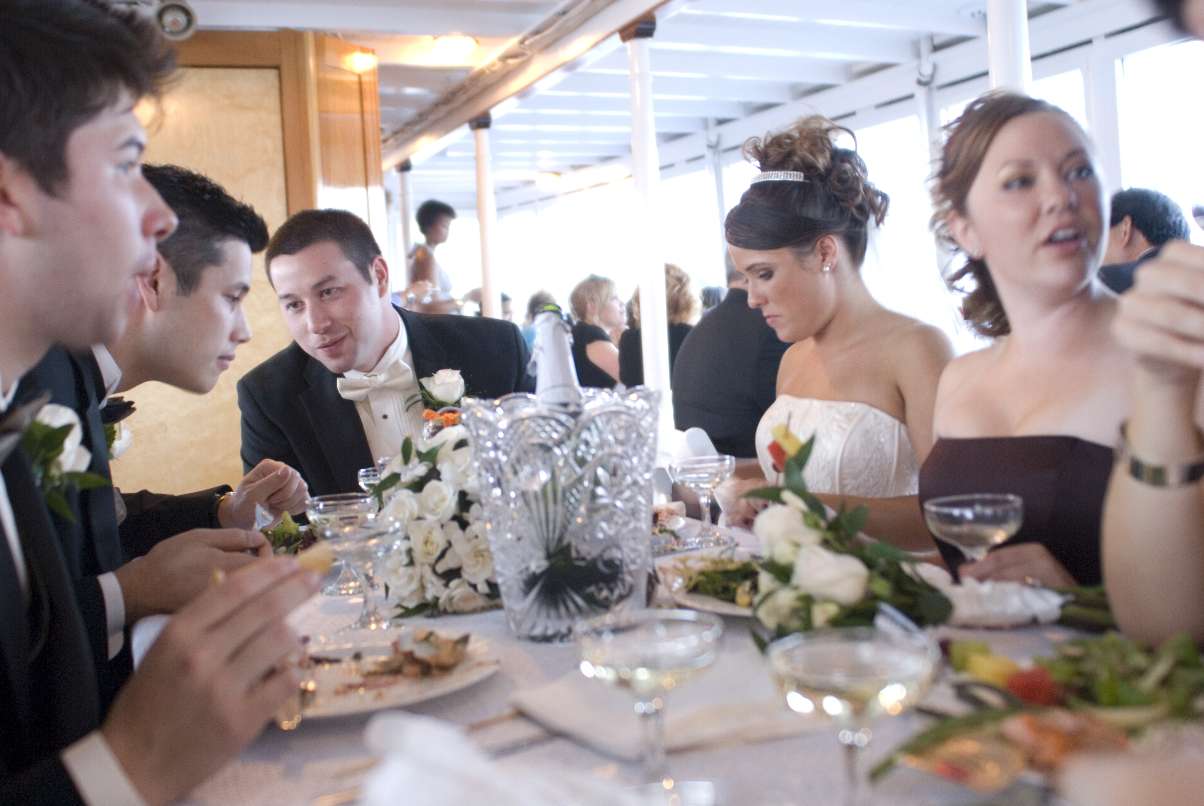 Reception, Flowers & Decor, Destinations, Cruise, Dinner, Head table, Boat, Ship, Virginia v steamship
