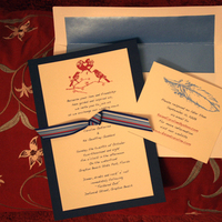 DIY, Stationery, red, blue, Invitations, Handmade, Lovebirds