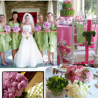 Inspiration, Cakes, pink, green, cake, Board