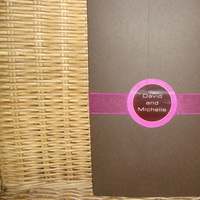 Stationery, pink, brown, Invitations, Gatefold