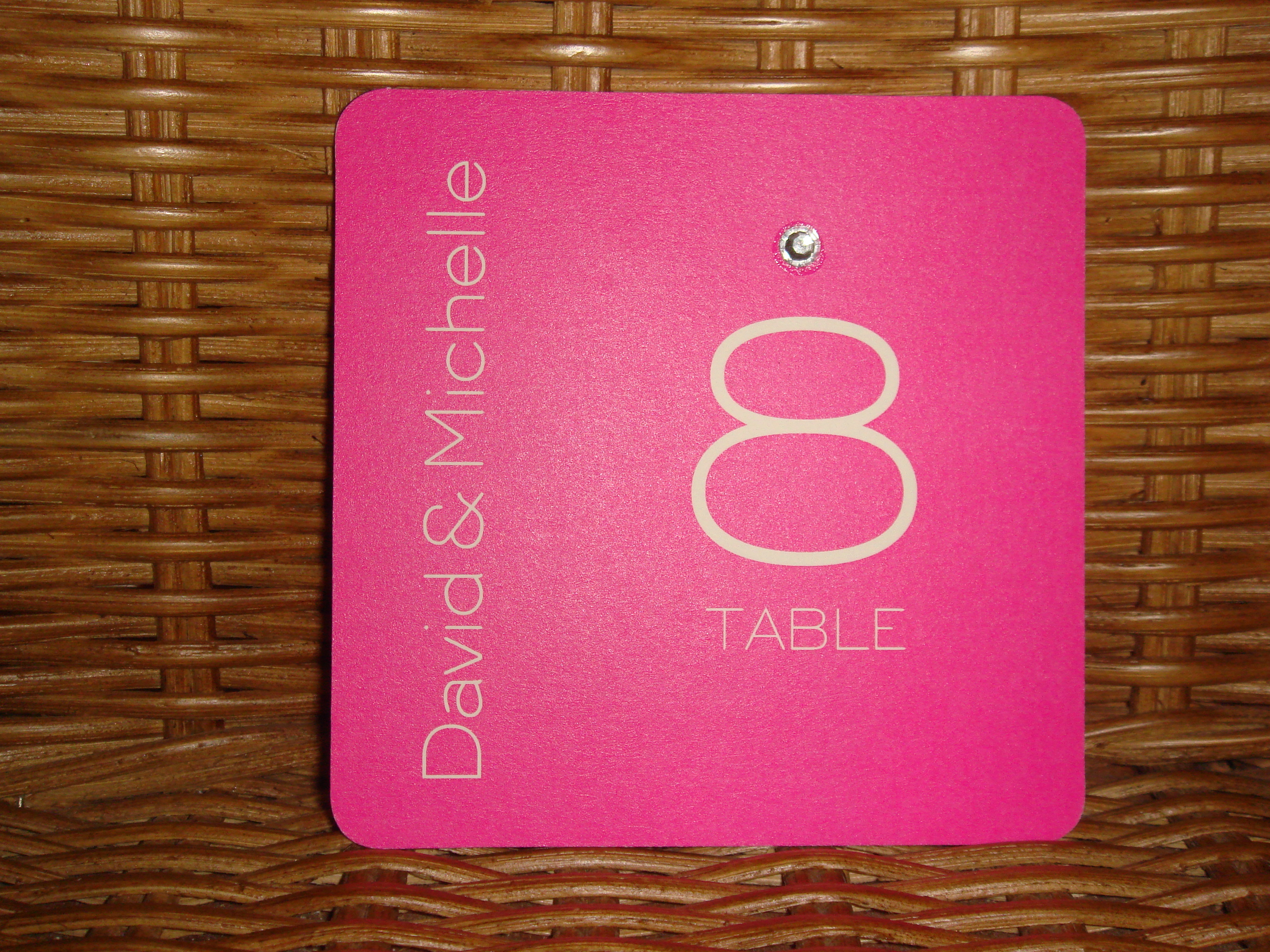 Reception, Flowers & Decor, Stationery, pink, Table Numbers, Table number