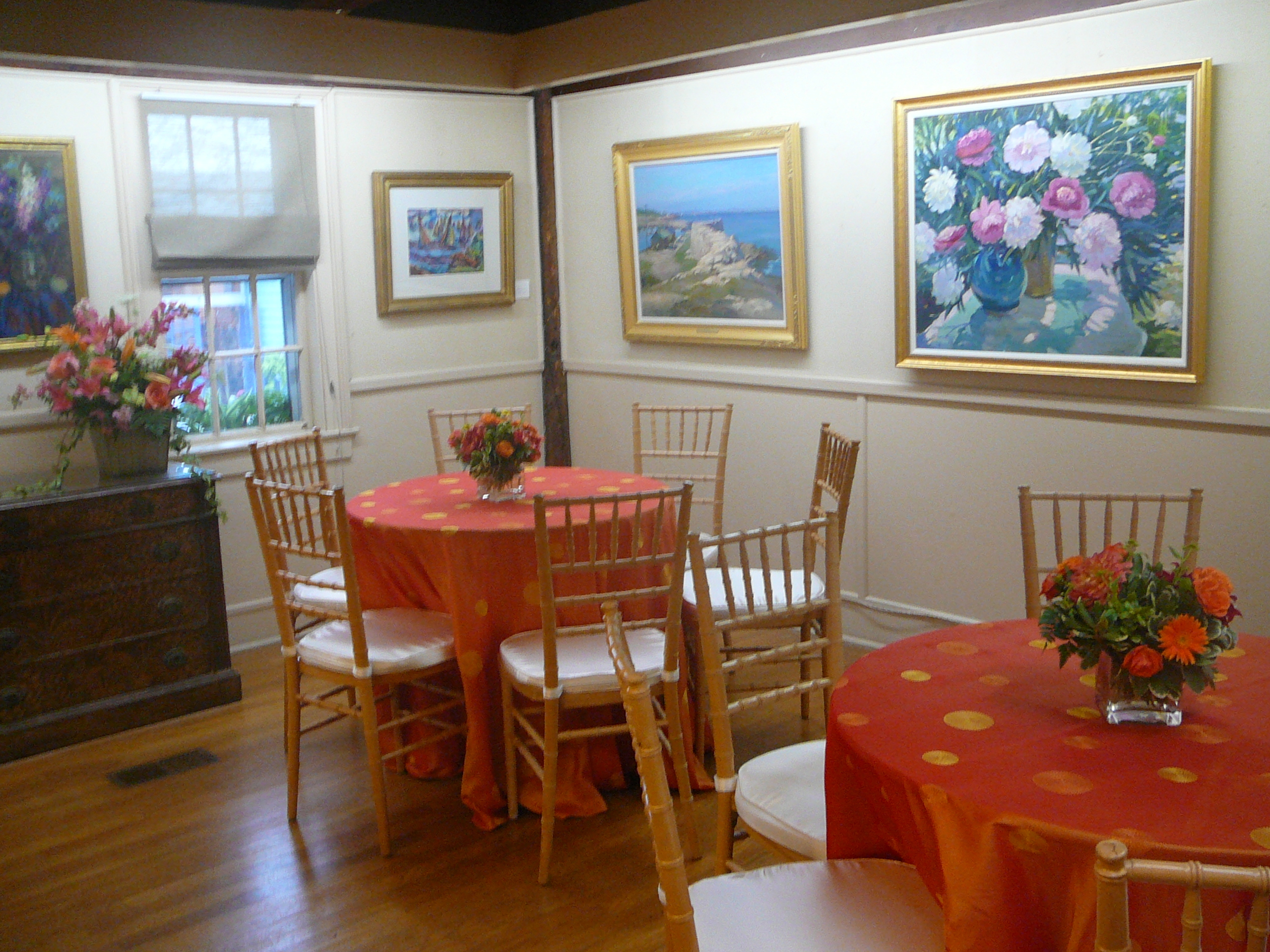 Flowers & Decor, Tables & Seating, Color, Tables, Rockport art association, Tapas